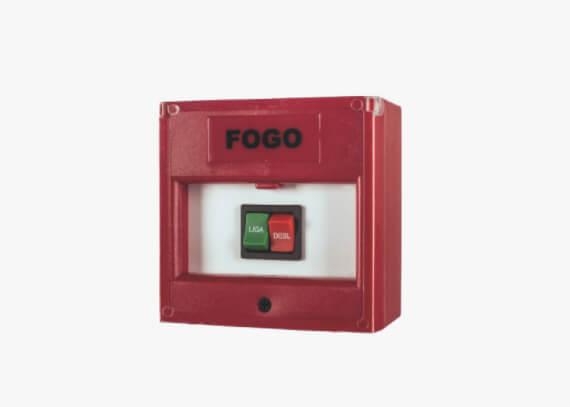 Botoeira de acionamento do alarme de incêndio