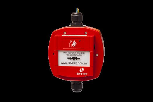 J-SAP-SKYFIRE67 - Acionador Manual Endereçável à Prova de Tempo