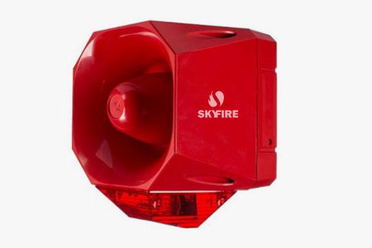 Sirene de Evacuação Audiovisual Convencional à Prova de Tempo